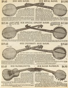 ad for banjos.