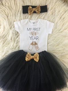889c621de830 My First New Years, My First New Year Tutu, Baby's First New Year, New Years  Shirt, My First New Yea. Etsy. Baby Girl Fall Outfits ...