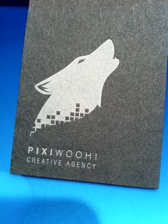 not sure which i love most... the metallic silver ink, the wolf logo or the company name ...Pixiwooh! Check out our custom business cards and stationery.