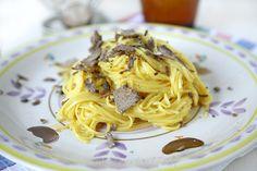 Ricetta Tagliolini alla carbonara di tartufo