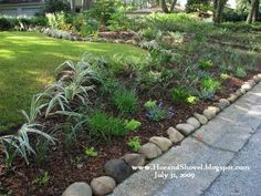 Low Maintenance Front Yard Landscaping | Low maintenance front yard landscaping. It looks like this goes right ...