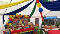 Boys First Birthday Party Ideas, Monster Birthday Parties, 1st Boy Birthday, Birthday Party Decorations, Elmo Party Decorations, Sesame Street Decorations, Sesame Street Centerpiece, Superman Birthday Party, Decoration Party