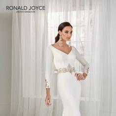 Tai 18202 Social Media Outlets, Crepe Dress, Modern Fashion, Formal Dresses, Wedding Dresses, Glamour, Simple, Dresses For Formal, Bride Dresses
