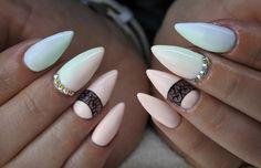 Pastel Ombre nails lakiery hybrydowe by Natalia Siwiec Indigo + Kryształ...