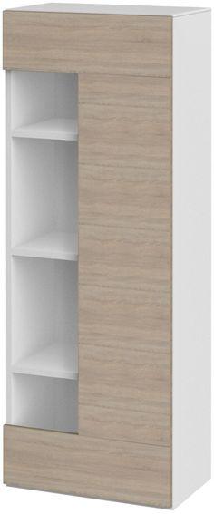 Glas-Schrank weiß, »Wobona«, pflegeleichte Oberfläche, FSC - hängeschrank wohnzimmer weiß