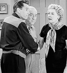 """""""I Love Lucy"""" ~ Animated GIF with Ricky, Fred and Ethel (Desi Arnaz, William Frawley and Vivian Vance)"""