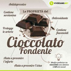 Cioccolato fondente - benefici +¡☆_ Let's for♡😍_ Wellness Fitness, Health And Wellness, Health Fitness, Diabetes Information, Sports Food, In Natura, Fit Girl, Juice Plus, Food Humor
