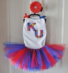 KU Jayhawks Tutu Set. My future baby girl will have this