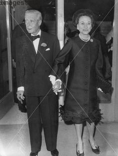 "Edward Prince of Wales ""David"" & Wallis Simpson, later Duke & Dutchess of Windsor, 1965."