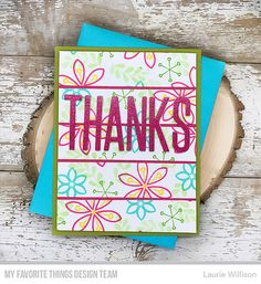 Card Kit: Snowflake Splendor Stamps: Big Thanks  Laurie Willison #mftstamps