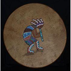 Elkhide Hand Drum, Kokopelli