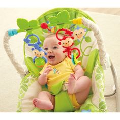 Fisher-Price Rainforest Friends  Infant-to-Toddler Rocker - Baby Rockers & Bouncers UK