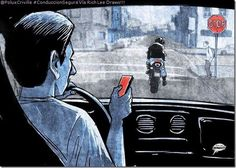 PoluxCriville-Via_Rich Lee Draws_conduccion-segura-moto-retrovisores-mirada-atras