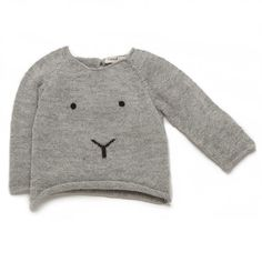 Bunny sweater in light grey/black