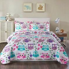 New Bart Reversible Quilt Set by Harriet Bee baby kid teen offer. offers on top store Owl Bedrooms, Bedroom Bed, Bedroom Ideas, Elephant Comforter, Comforter Sets, Pink Quilts, Ruffle Bedding, Twin Quilt, Quilt Sets