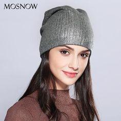 b0a4ac3b8fb Winter Beanie Natural Raccoon Fur Pom Poms Hat Female Elegant Wool ...