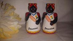 Vintage Set of Aunt Jemima Americana Salt and by JunkYardBlonde