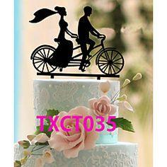 Cake+Topper+Non-personalized+Classic+Couple+Acrylic+–+USD+$+19.98