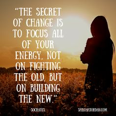 All focus uses energy. Will you put most of your energy on building up the good, or let it go to waste fighting the old...   Subscribe to my weekly news letter at: ShiloahJordan.com