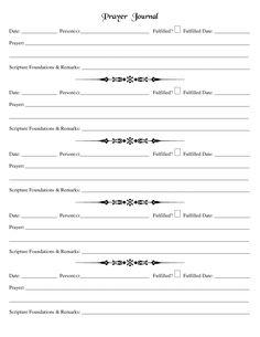 Printable Prayer Request Template | Document Sample