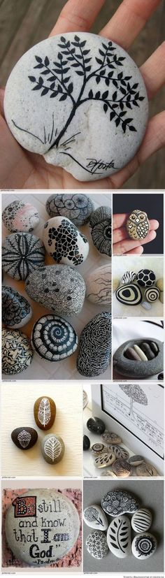 Great Idea for Stone Art crafts ideas creative Easy Paint Rock For Try at Home (Stone Art & Rock Painting Ideas) Pebble Painting, Pebble Art, Stone Painting, Lemon Painting, Pebble Stone, Stone Crafts, Rock Crafts, Arts And Crafts, Art Crafts