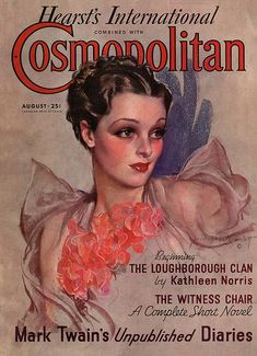 Cosmopolitan - by Bradshaw Crandell Movie Magazine, Magazine Art, Magazine Covers, Ideas Magazine, Design Magazine, Old Magazines, Vintage Magazines, Fashion Magazines, Newspaper Cover