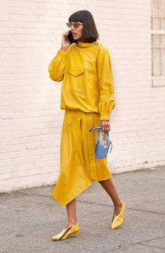 "WHO WHAT WEAR: 5 Color Trends From Street Style | ""5 Random Colors That Are About to Be Everywhere"" - Yellow Mustard"