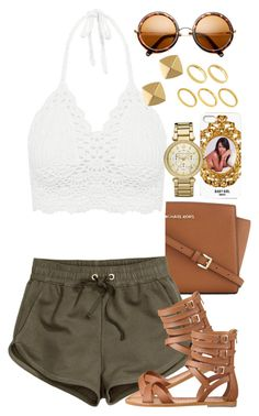 Untitled #1380 by power-beauty on Polyvore featuring polyvore, fashion, style, H&M, Nine West, MICHAEL Michael Kors, Michael Kors, Vince Camuto and ASOS