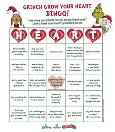 engaging lessons and activities grinch christmas grow your heart bingo game free - How The Grinch Stole Christmas Games