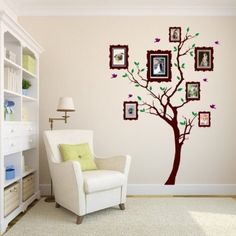 Picture Frame tree Vinyl Wall Decal: Home & Kitchen