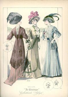 De Gracieuse, October 1908, Edwardian Fashion Plate