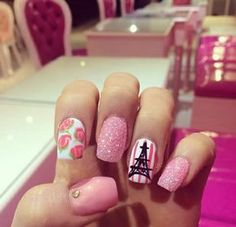 we love nails bar Love Nails, Pretty Nails, Fun Nails, Nails Bar, Paris Nails, Love Decorations, Latest Nail Art, Nails Inspiration, Nail Art Designs