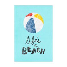 Life's a Beach Adhesive Art Print