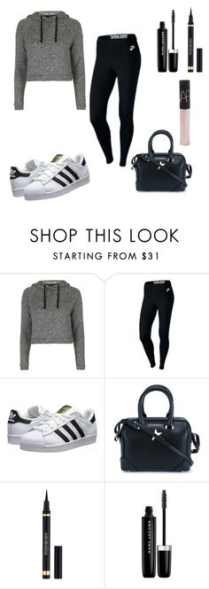 """Casual"" by gennijan on Polyvore featuring Topshop, NIKE, adidas Originals, Givenchy, Yves Saint Laurent, Marc Jacobs and NARS Cosmetics"