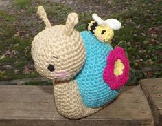 Snail and Friend Amigurumi Chrochet Plush by LisasCrochetCuteness