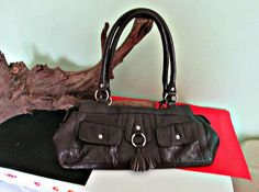 Vintage DEBENHAMS Handbag by J.Taylor, made in India, Leacher bag  Pretty Debenhams by J. Taylor Leatcher bag. Large enough to carry everything