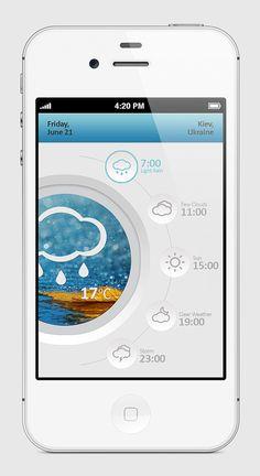 10 prachtige mobiele weer interfaces