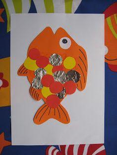 ...Joyful Mama's Place...: Some super-fun Fish crafts