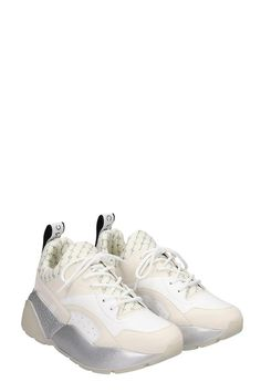 Stella McCartney Stella Mccartney Eclypse Sneakers In White Tech/Synthetic in White Stella Mccartney Sneakers, High Top Sneakers, Sneakers Nike, Nike Huarache, Tech, Shopping, Shoes, Fashion, Nike Tennis
