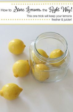 Did you know you have been storing your lemons the wrong way!!!!! It turns out there is a better way to store lemons that you probably have never heard of before. Click through to see how you should store your lemons the right way! #TheHacksOfLife AD