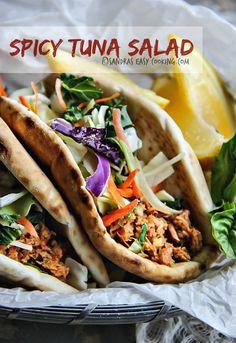 Spicy Tuna Salad #recipe #food #homemade @SECooking | Sandra