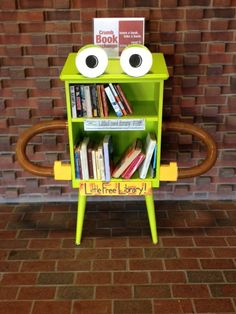 Little Free Library. Take a book, leave a book.   I'm obsessed with these.