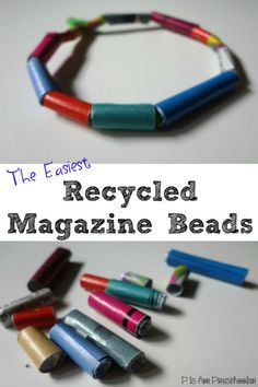 The easiest way to make beads from recycled magazine pages! #createrecycle
