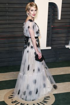 Emma Roberts in Yanina Couture at the Vanity Fair Oscars Party