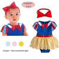 Baby girls dress vestidos summer bebe princess lace dress girl infantil tutu dress romper + headband suit baby clothing