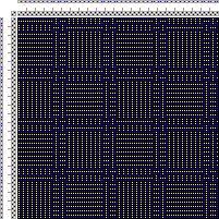 Drawdown Image: Karierte Muster Pl. VIII Nr. 6, Die färbige Gewebemusterung, Franz Donat, 2S, 2T