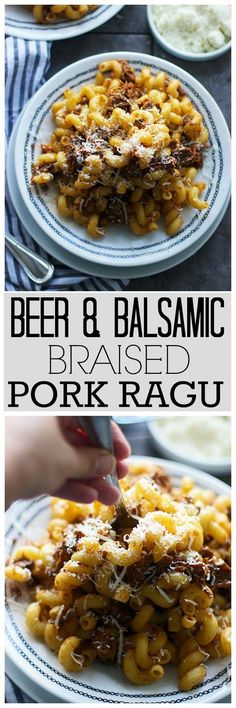 Beer and Balsamic Braised Pork Ragu