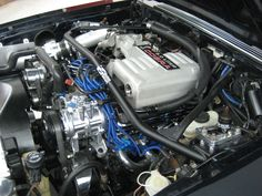 Foxbody Mustang engine bay Mustang Engine, 93 Mustang, Fox Body Mustang, Car Ford, Ford Trucks, My Dream Car, Dream Cars, Ford Mustangs, Car Engine