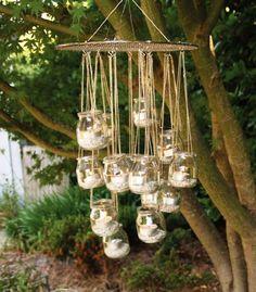 recy lustr, zahradní lust, zahradní světlo, lust na svíčky, světlo na terasu, světlo do pergoly