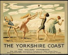 'The Yorkshire Coast', colour lithograph poster designed by Dame Laura Knight and issued by the London and North Eastern Railway, Great Britain, ca. Posters Uk, Train Posters, Railway Posters, Retro Posters, British Travel, British Seaside, British Summer, National Railway Museum, National Railways